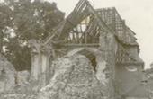 Zniszczona świątynia - rok 1945